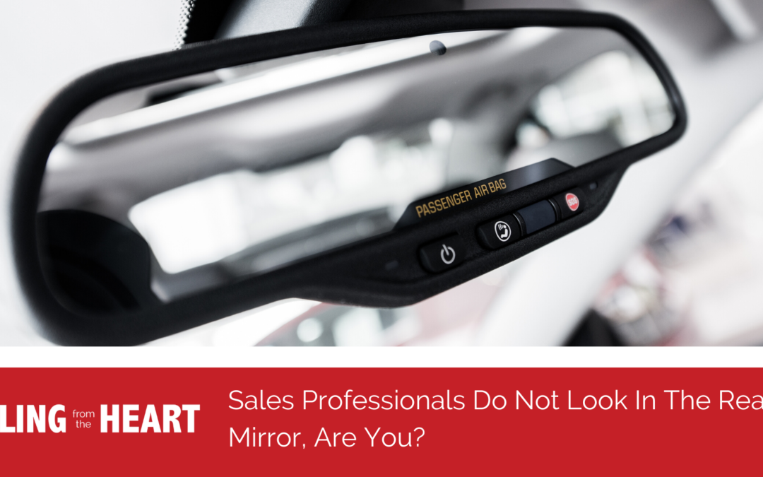 Sales Professionals Do Not Look In The Rearview Mirror, Are You?