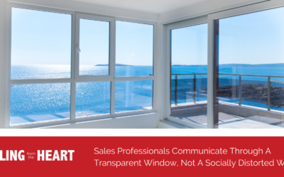 Sales Professionals Communicate Through A Transparent Window, Not A Socially Distorted Window